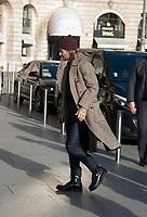 January 17 2018, PARIS FRANCE David Beckam arrives at the Hotel the Ritz<br /> in Paris. #> BEAUCOUP DE PEOPLE A L'HOTEL DU RITZ DE PARIS