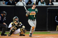 Siena Saints second baseman Vince Citro #6 hits a home run during a game against the Central Florida Knights on February 16, 2013 at Jay Bergman Field in Orlando, Florida.  Siena defeated UCF 7-4.  (Mike Janes/Four Seam Images)