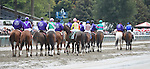 Close Hatches (no. 6), ridden by Joel Rosario and trained by William Mott, wins the 67th running of the grade 1 Personal Ensign Stakes for fillies and mares three years old and upward on August 22, 2014 at Saratoga Race Course in Saratoga Springs, New York.  (Bob Mayberger/Eclipse Sportswire)