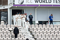 Kane Williamson, New Zealand leads his team onto the field during India vs New Zealand, ICC World Test Championship Final Cricket at The Hampshire Bowl on 19th June 2021