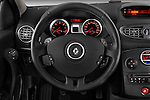 Steering wheel view of a 2009 Renault Clio Pack GT Wagon