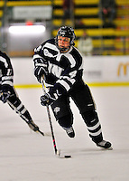 29 January 2012: University of New Hampshire Wildcat forward Heather Kashman, a Freshman from Edmonton, Alberta, in action against the University of Vermont Catamounts at Gutterson Fieldhouse in Burlington, Vermont. The Lady Cats edged out the Lady Wildcats 2-1 to split their Hockey East twin-game weekend series. Mandatory Credit: Ed Wolfstein Photo