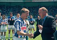 VOETBAL: HEERENVEEN: SC Heerenveen, Jon Dahl Tomasson - Riemer van der Velde 1997, ©foto Martin de Jong