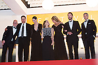 thierry Fremaux, Actress Caitriona Balfe, producer Jodie Foster, actors Julia Roberts, Dominic West and George Clooney - CANNES 2016 - DESCENTE DES MARCHES DU FILM 'MONEY MONSTER