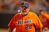 Cal State Fullerton Titans head coach Rick Vanderbook during the game against the University of Washington Huskies at Goodwin Field on June 10, 2018 in Fullerton, California. The Huskies defeated the Titans 6-5. (Donn Parris/Four Seam Images)