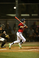 Drew Waters (15) bats during the WWBA World Championship at the Roger Dean Complex on October 20, 2016 in Jupiter, Florida.  (Greg Wagner/Four Seam Images)