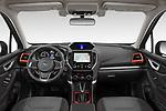 Stock photo of straight dashboard view of 2021 Subaru Forester e-Boxer-Sport 5 Door SUV Dashboard