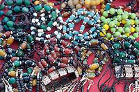 Kathmandu,Nepal.  Jewelry for Sale at Swayambhunath Temple.