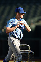 ***Temporary Unedited Reference File***Omaha Storm Chasers manager Brian Poldberg (27) during a game against the Memphis Redbirds on May 5, 2016 at AutoZone Park in Memphis, Tennessee.  Omaha defeated Memphis 5-3.  (Mike Janes/Four Seam Images)