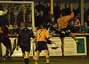07/01/2006         Copyright Pic: James Stewart.File Name : sct_jspa07_alloa_v_livingston.MICHAEL BOLOCHOWECKYJ SCORES THE OPENER FOR ALLOA.....Payments to :.James Stewart Photo Agency 19 Carronlea Drive, Falkirk. FK2 8DN      Vat Reg No. 607 6932 25.Office     : +44 (0)1324 570906     .Mobile   : +44 (0)7721 416997.Fax         : +44 (0)1324 570906.E-mail  :  jim@jspa.co.uk.If you require further information then contact Jim Stewart on any of the numbers above.........