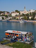 Club Zappa Barka auf der Sava, Belgrad, Serbien, Europa<br /> Club Zappa Barka on river Sava, Belgrade, Serbia, Europe
