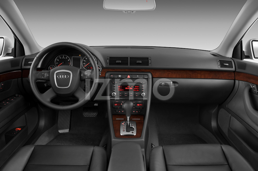 Straight dashboard view of a 2005 - 2008 Audi A4 3.2 Sedan.