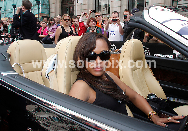 **ALL ROUND PICTURES FROM SOLARPIX.COM**.**WORLDWIDE SYNDICATION RIGHTS**.Celebs arrive for the launch of the Gumball 3000 Rally  in London in the Pall Mall, London on Saturday 1 May 2010..This pic:    Eve.JOB REF:  11189    LNJ     DATE:   01.05.10.**MUST CREDIT SOLARPIX.COM OR DOUBLE FEE WILL BE CHARGED**.**MUST NOTIFY SOLARPIX OF ONLINE USAGE**.**CALL US ON: +34 952 811 768 or LOW RATE FROM UK 0844 617 7637**