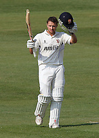 Jaik Mickleburgh celebrates a century, 100 runs, for Essex - Northamptonshire CCC vs Essex CCC - LV County Championship Division Two Cricket at the County Ground, Northampton - 20/04/11 - MANDATORY CREDIT: Gavin Ellis/TGSPHOTO - Self billing applies where appropriate - Tel: 0845 094 6026
