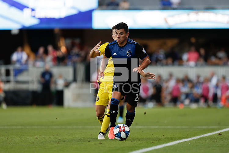 SAN JOSE, CA - AUGUST 03: Nick Lima  during a Major League Soccer (MLS) match between the San Jose Earthquakes and the Columbus Crew on August 03, 2019 at Avaya Stadium in San Jose, California.