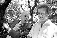 - L'editore Franco Maria Ricci con lo scrittore argentino Jorge Luis Borges (Milano, Settembre 1981)<br /> <br /> - The publisher Franco Maria Ricci with the Argentine writer Jorge Luis Borges (Milan, September 1981)