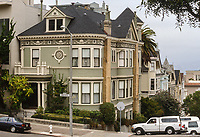 San Francisco, California, USA. Pacific Heights, Queen Anne Architectural Style Decoration.