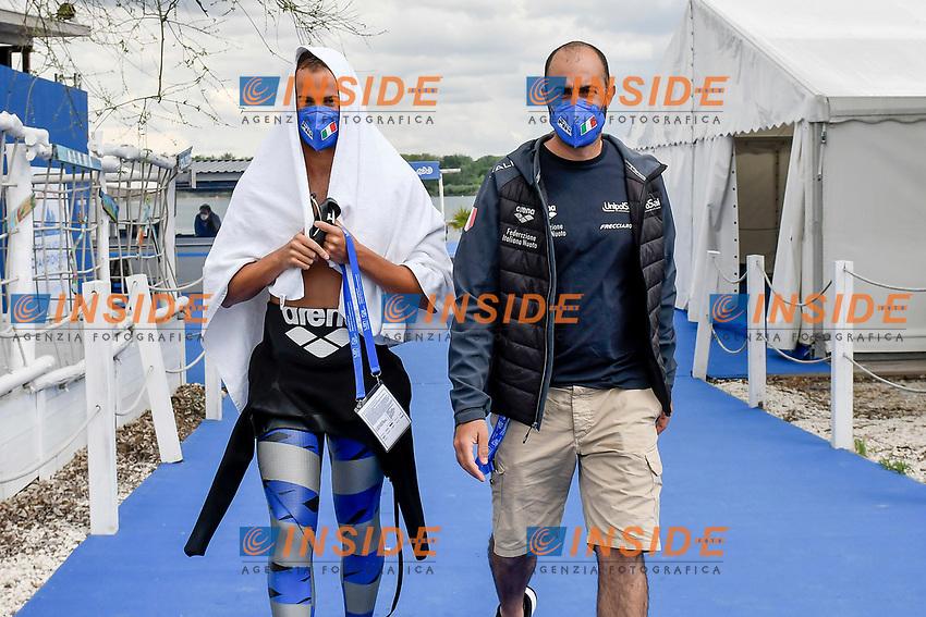 PALTRINIERI Gregorio, BALDASSARRE Roberto ITA<br /> Team Event 5 km<br /> Open Water<br /> Budapest  - Hungary  15/5/2021<br /> Lupa Lake<br /> XXXV LEN European Aquatic Championships<br /> Photo Andrea Staccioli / Deepbluemedia / Insidefoto