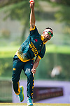 Aubrey Swanepoel of South Africa bowls during Day 2 of Hong Kong Cricket World Sixes 2017  match between South Africa vs Sri Lanka at Kowloon Cricket Club on 29 October 2017, in Hong Kong, China. Photo by Yu Chun Christopher Wong / Power Sport Images