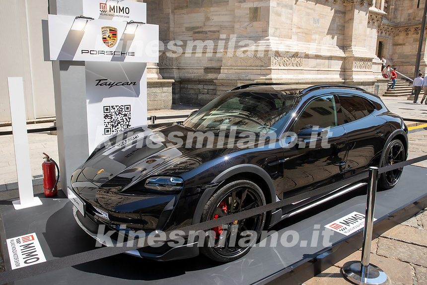 Porsche Taycan 4S Cross Turismo - MILANO, ITALY, the Milan Monza Motor Show, from 10th to 13th June 2021 in Milan and Monza and will present the news of the 60 participating car and motorcycle manufacturers. With a democratic format, in which brands will exhibit their cars on equal stands, MIMO wants to give a restart signal for the world of fair and the automotive sector, with a free access and safe exhibition.