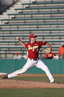 Kyle Davis #6 of the Southern California Trojans pitches against the Oregon State Beavers at Dedeaux Field on May 23, 2014 in Los Angeles, California. Southern California defeated Oregon State, 4-2. (Larry Goren/Four Seam Images)
