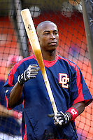 13 June 2006: Alfonso Soriano, outfielder for the Washington Nationals, stands outside the batting cage prior to a game against the Colorado Rockies at RFK Stadium, in Washington, DC. The Rockies defeated the Nationals 9-2 in the second game of the four-game series...Mandatory Photo Credit: Ed Wolfstein Photo..