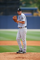 Jackson Generals starting pitcher Taylor Clarke (36) gets ready to deliver a warmup pitch during a game against the Biloxi Shuckers on April 23, 2017 at MGM Park in Biloxi, Mississippi.  Biloxi defeated Jackson 3-2.  (Mike Janes/Four Seam Images)