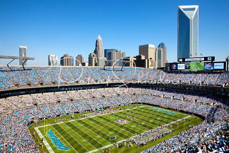 The Carolina Panthers football at Bank of America Stadium in Charlotte, North Carolina.