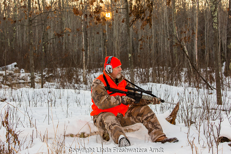 Wisconsin hunter with AR-15