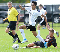 Madison Memorial at Oregon, Wisconsin boys high school soccer 9/14/19