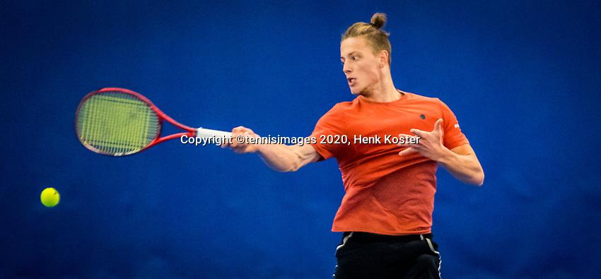 Amstelveen, Netherlands, 18  December, 2020, National Tennis Center, NTC, NK Indoor, National  Indoor Tennis Championships,   : Tim van Rijthoven (NED) <br /> Photo: Henk Koster/tennisimages.com