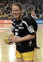 """1. Bundesliga Handball Damen - Frauen Handball BL DHB - Arena Leipzig - HC Leipzig : TSV Bayer 04 Leverkusen """"Handballelfen"""" - im Bild:  Maike Daniels. Porträt Foto: Norman Rembarz..Norman Rembarz , Autorennummer 41043728 , Augustenstrt. 2, 04317 Leipzig, Tel.: 01794887569, Hypovereinsbank: BLZ: 86020086, KN: 357889472, St.Nr.: 231/261/06432 - Jegliche kommerzielle Nutzung ist honorar- und mehrwertsteuerpflichtig! Persönlichkeitsrechte sind zu wahren. Es wird keine Haftung übernommen bei Verletzung von Rechten Dritter. Autoren-Nennung gem. §13 UrhGes. wird verlangt. Weitergabe an Dritte nur nach  vorheriger Absprache.."""