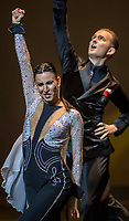 Domen Krapez and Natascha Karabey perform during Rendezvous with the World Champions at The Hong Kong Academy for Performing Arts, Wan Chai, Hong Kong on 14 December 2019, Hong Kong SAR, China   Photo by : Ike Li / Ike Images