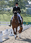 LEXINGTON, KY - APRIL 29: #54 RF Demeter and rider Marilyn Little in the warm up ring before their Dressage test in the Rolex Three Day Event, Dressage Day 2, at the Kentucky Horse Park in Lexington, KY, where they finished 3rd overall in Dressage.  April 29, 2016 in Lexington, Kentucky. (Photo by Candice Chavez/Eclipse Sportswire/Getty Images)
