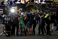 The fairy tale return at the highest level of the sport continues for Mark Cavendish (GBR/Deceuninck - Quick Step) as he wins his 33rd  stage in the Tour de France and shares his joy with teammate & World Champion Julian Alaphilippe (FRA/Deceuninck - QuickStep)<br /> <br /> Stage 10 from Albertville to Valence (191km)<br /> 108th Tour de France 2021 (2.UWT)<br /> <br /> ©kramon