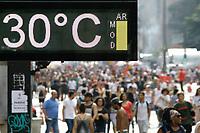 29.07.2018 - Clima seco e calor na Avenida Paulista em SP