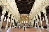 L'interno della Basilica di Sant'Apollinare in Classe, poco fuori Ravenna.<br /> Interior view of the Basilica of Sant'Apollinare in Classe, on the outskirts of Ravenna.<br /> UPDATE IMAGES PRESS/Riccardo De Luca