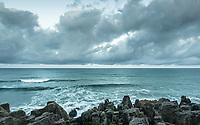 Moody coastal scene in Punakaiki, Paparoa National Park, Buller Region, West Coast, New Zealand, NZ