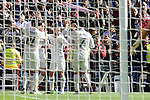 Real Madrid's player Alvaro Morata, Gareth Bale, Daniel Carvajal and Cristiano Ronaldo celebrating a goal during a match of La Liga at Santiago Bernabeu Stadium in Madrid. November 06, Spain. 2016. (ALTERPHOTOS/BorjaB.Hojas)