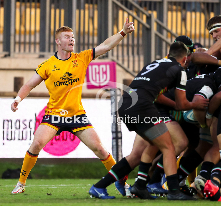 2 October 2021; Nathan Doak of Ulster during the United Rugby Championship match between Zebre and Ulster at Stadio Sergio Lanfranchi in Parma, Italy. Photo by Roberto Bregani/Dicksondigital