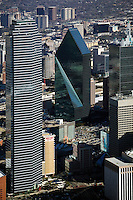 aerial photograph of Bank of America Plaza and Fountain Place, Dallas, Texas