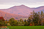 Autumn paints the sides of Mount Mansfield in Cambridge, VT, USA