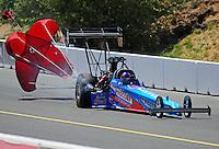 Jul. 18, 2010; Sonoma, CA, USA; NHRA top fuel dragster driver Mike Strasburg during the Fram Autolite Nationals at Infineon Raceway. Mandatory Credit: Mark J. Rebilas-