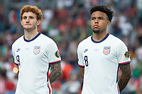 DENVER, CO - JUNE 6: Josh Sargent, Weston McKennie of the United States during a game between Mexico and USMNT at Mile High on June 6, 2021 in Denver, Colorado.