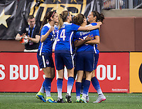 Detroit, MI - September 17, 2015:  The USWNT defeated Haiti 5-0 during the USWNT Victory Tour at Ford Field.