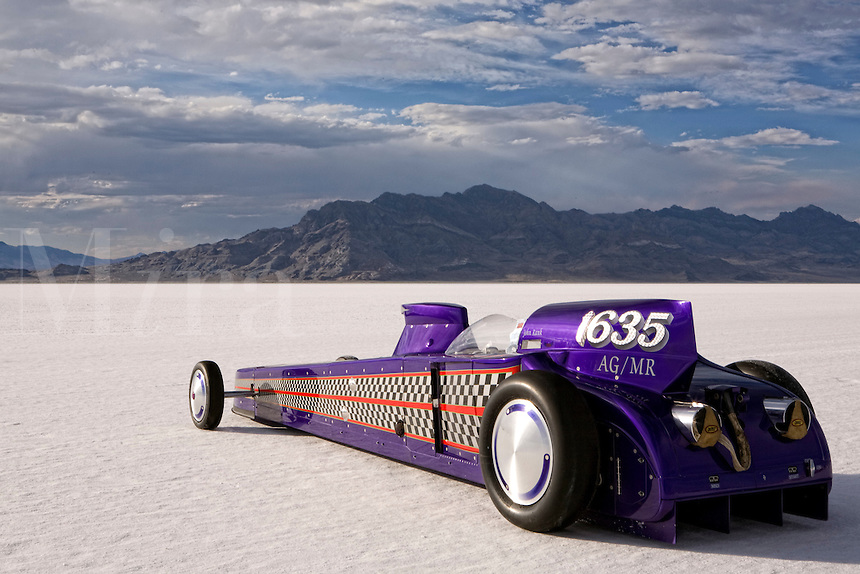 A/GMR 1635 1927 Ford Modified Roadster Record holder at 266.755mph Speed Week 2007 Bonneville Salt Flats