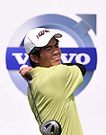 SUZHOU, CHINA - APRIL 17:  Liang Wen-chong of China tees off on the 7th hole during the Round Three of the Volvo China Open on April 17, 2010 in Suzhou, China. Photo by Victor Fraile / The Power of Sport Images