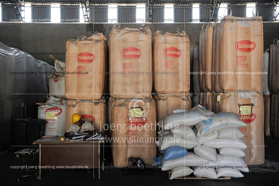 URUGUAY Montevideo, rice mill Saman, processing of GMO free rice for export / Reismuehle Saman, Verarbeitung von GVO freiem Reis fuer den Export