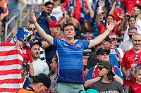 EAST HARTFORD, CT - JULY 5: Fans cheer during a game between Mexico and USWNT at Rentschler Field on July 5, 2021 in East Hartford, Connecticut.
