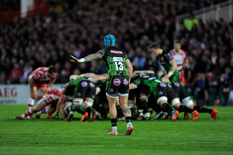 Jack Nowell of Exeter Chiefs during the European Rugby Challenge Cup semi final match between Gloucester Rugby and Exeter Chiefs at Kingsholm Stadium on Saturday 18th April 2015 (Photo by Rob Munro)